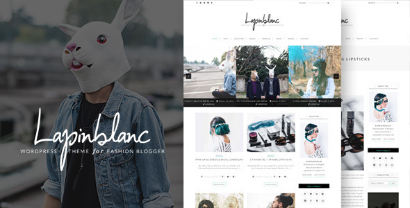 Lapin Blanc - Fashion Blog WordPress Theme - Personal Blog / Magazine