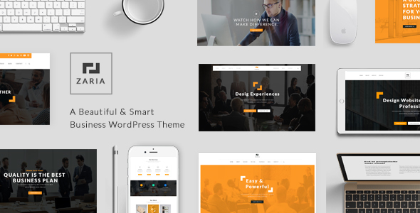 Zaria - A Beautiful & Smart Business Responsive Creative & Minimal WordPress Theme - Corporate WordPress