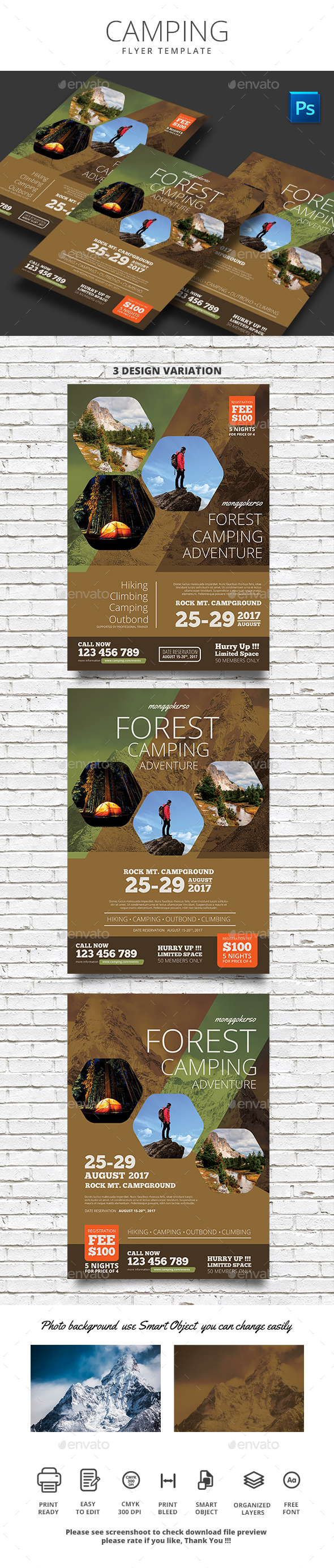 Camping Flyer - Sports Events