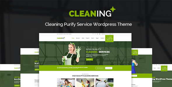Cleaning - Purify Service WordPress Theme - Business Corporate