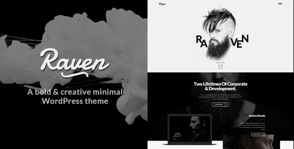 Raven -  Minimal WordPress Theme - Creative WordPress