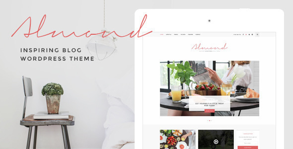 Almond - Inspiring Blog WordPress Theme - Personal Blog / Magazine