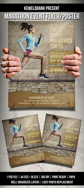 Marathon Event Flyer / Poster - Sports Events
