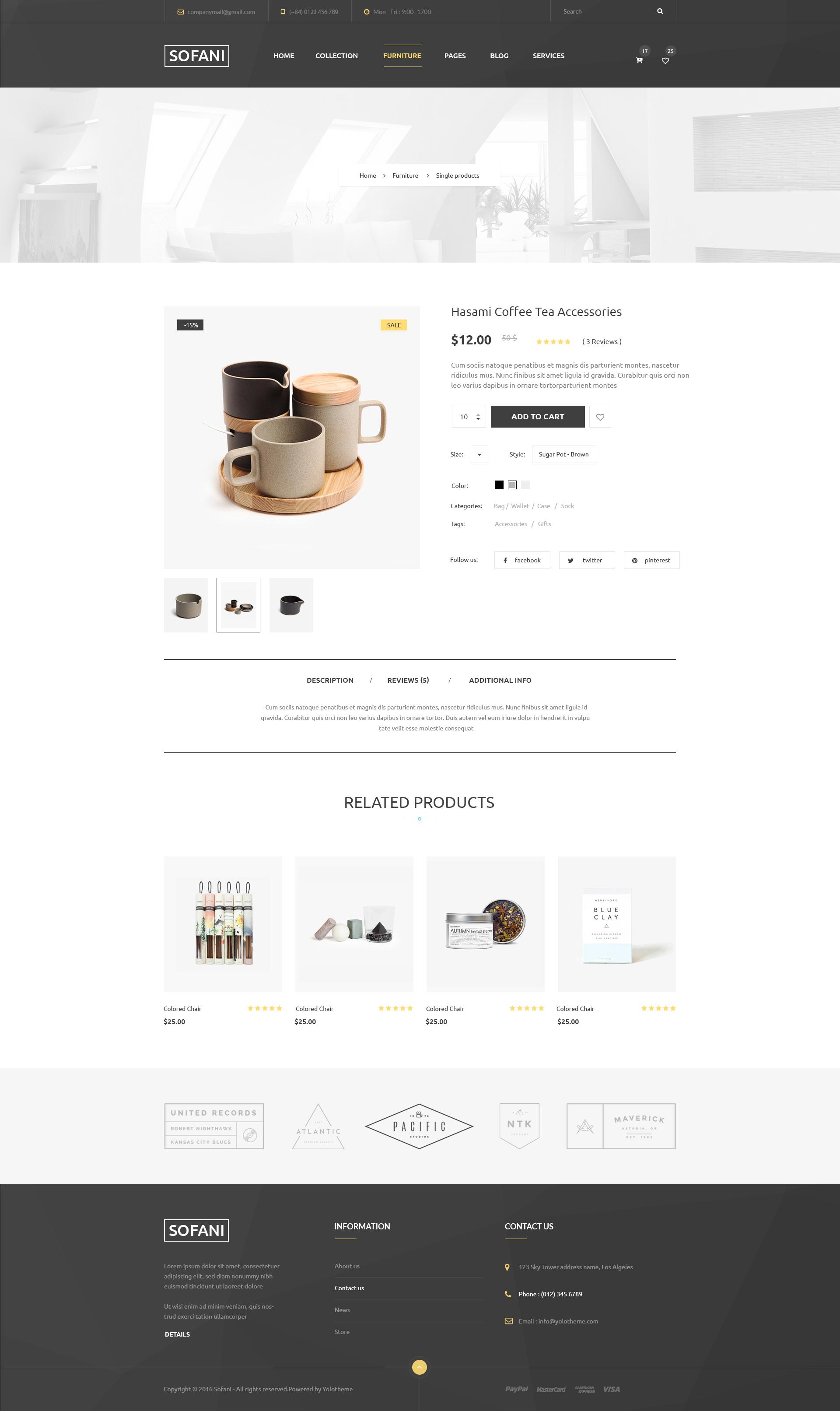 Sofani - Furniture Store HTML Template by YoloPSD   ThemeForest