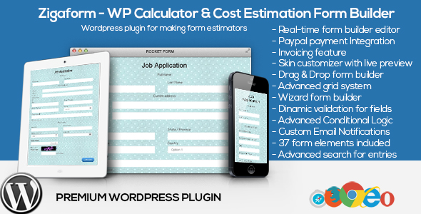 Zigaform  Wordpress Calculator  Cost Estimation Form Builder By