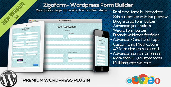 Zigaform - WordPress Form Builder - CodeCanyon Item for Sale