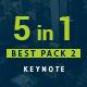 5 in 1 Bundle Keynote Pack 2 - GraphicRiver Item for Sale
