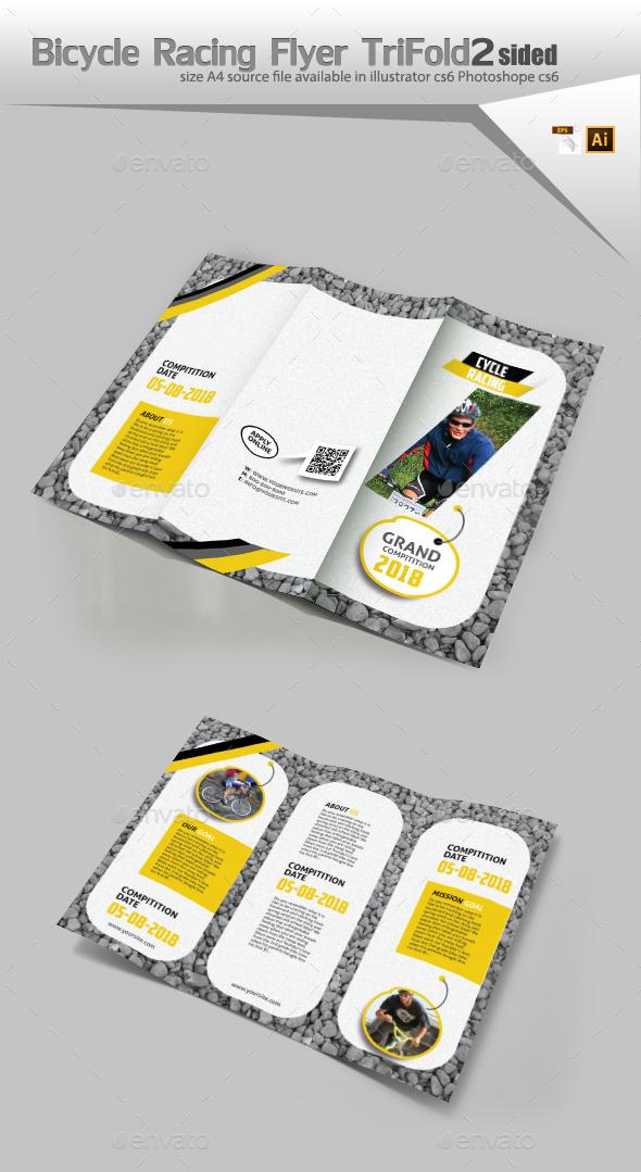 Bicycle Racing Three Fold - Brochures Print Templates