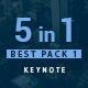 5 in 1 Bundle Keynote Pack 1 - GraphicRiver Item for Sale