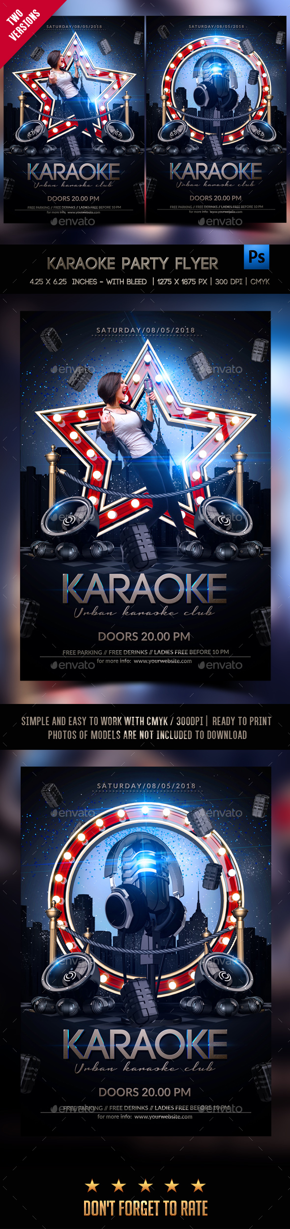 Karaoke Night Template - Clubs & Parties Events