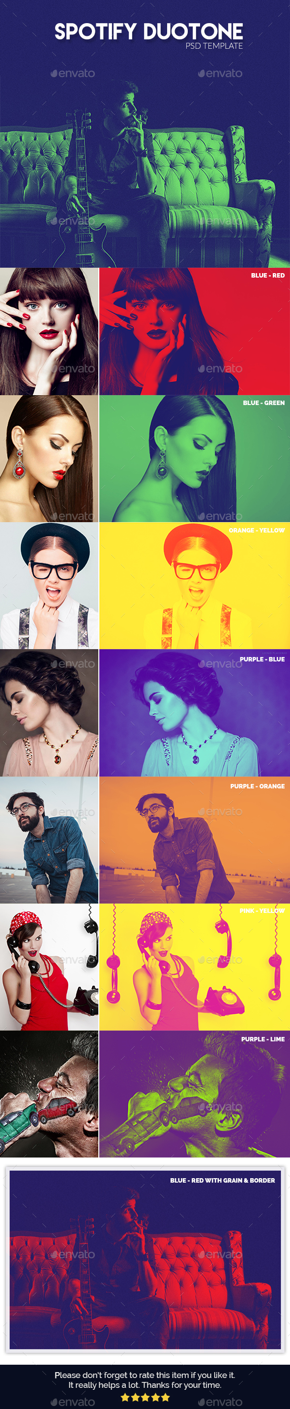 Spotify Duotone Template - Urban Photo Templates