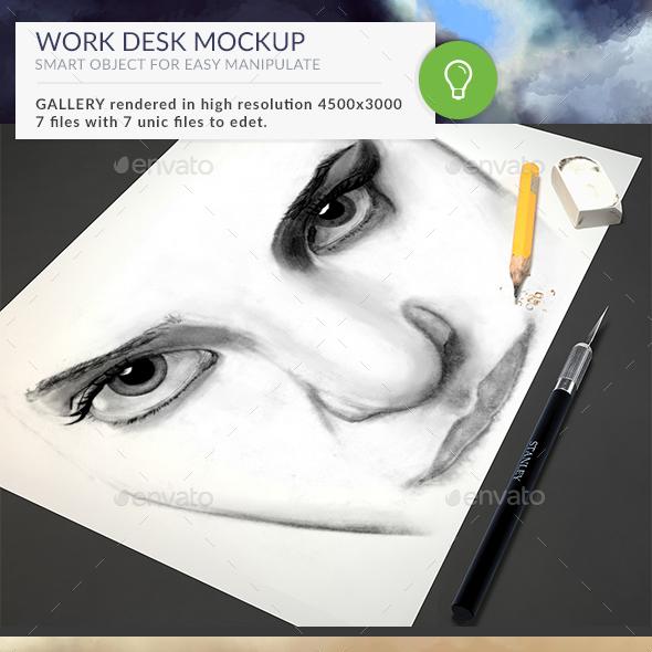 Desk Mockup - Miscellaneous Print