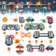 Space Ships Flat Game Level Kit - GraphicRiver Item for Sale