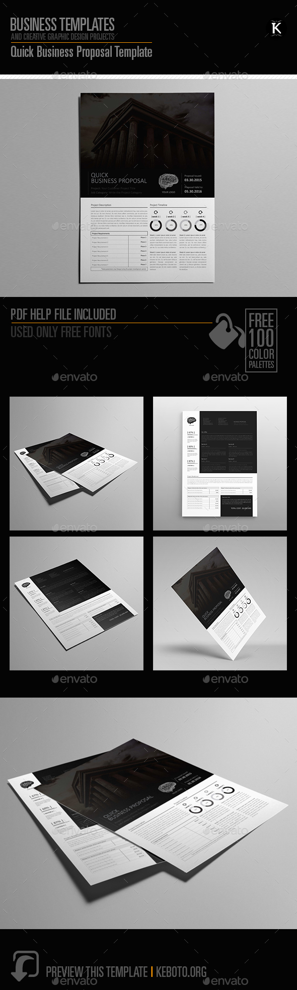 Quick Business Proposal Template - Proposals & Invoices Stationery