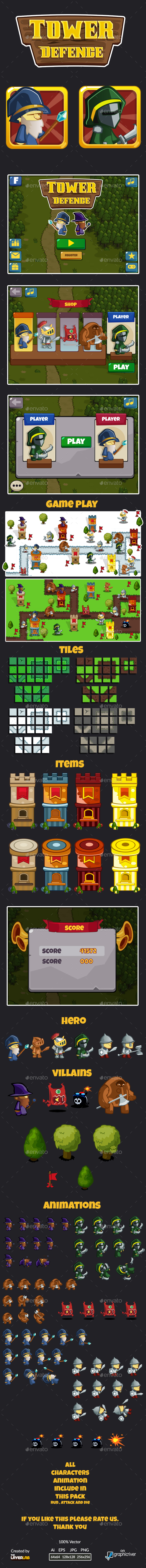 Tower Defence GUI - Game Kits Game Assets