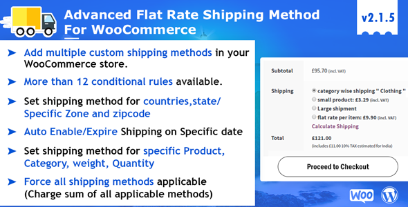 Get Advance Flat Rate Shipping Method For WooCommerce