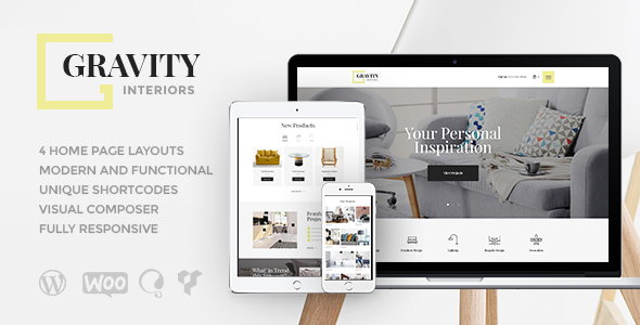 Gravity | Interior Design & Furniture Store - Retail WordPress