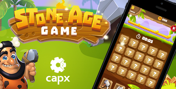 Stone Age HTML5 Game [ 20 levels ] + Capx - CodeCanyon Item for Sale