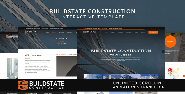 Buildstate Construction Interactive Template - Business Corporate