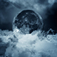 Flying Above the Clouds to the Moon - VideoHive Item for Sale