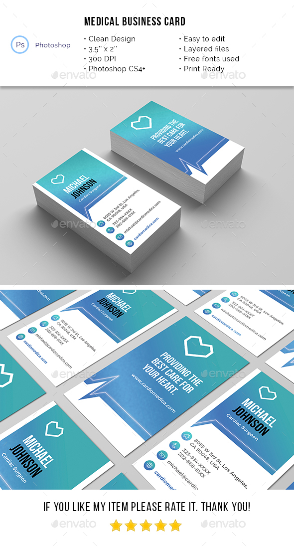 Medical Business Card - Industry Specific Business Cards