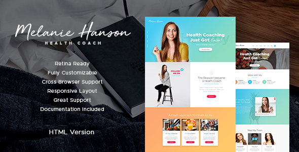 Health Coach Blog & Lifestyle Site Template - Personal Site Templates