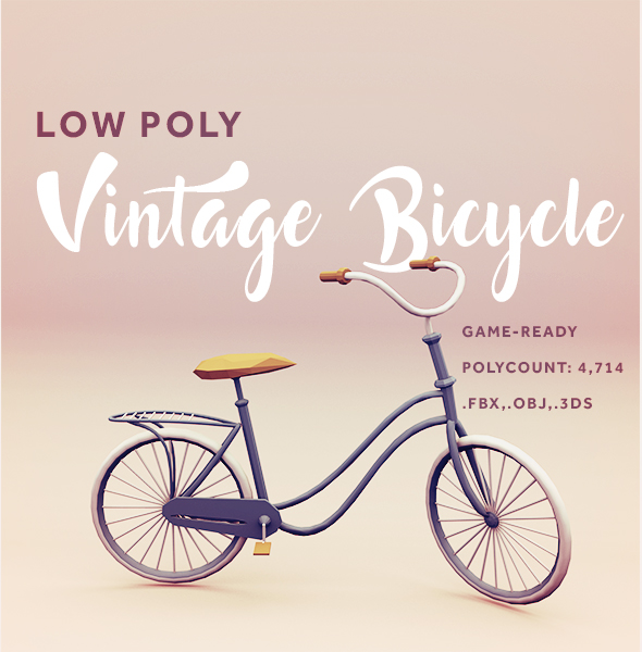 Low Poly Vintage Bicycle - 3DOcean Item for Sale