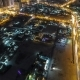 Cityscape of Ajman From Rooftop at Night