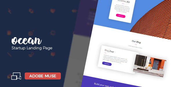 Ocean - Startup, Creative Agency Landing Page - Creative Muse Templates