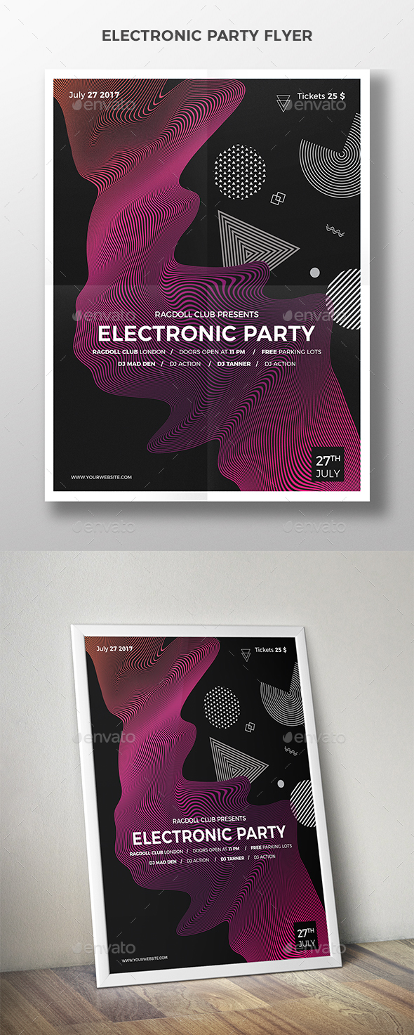 Electronic Party Flyer - Clubs & Parties Events