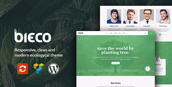 Bieco – Environment & Ecology WordPress Theme (Business) images