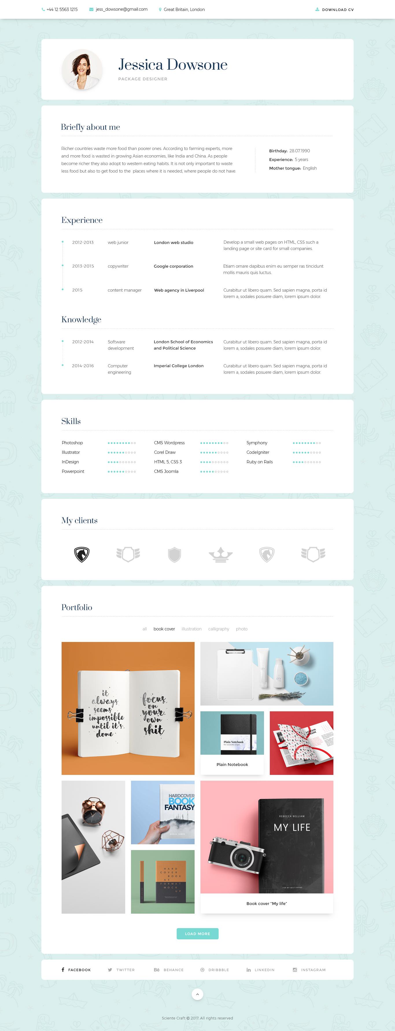 Lofty cv resume template by scientecraftdesign themeforest lofty cv resume template yelopaper Images