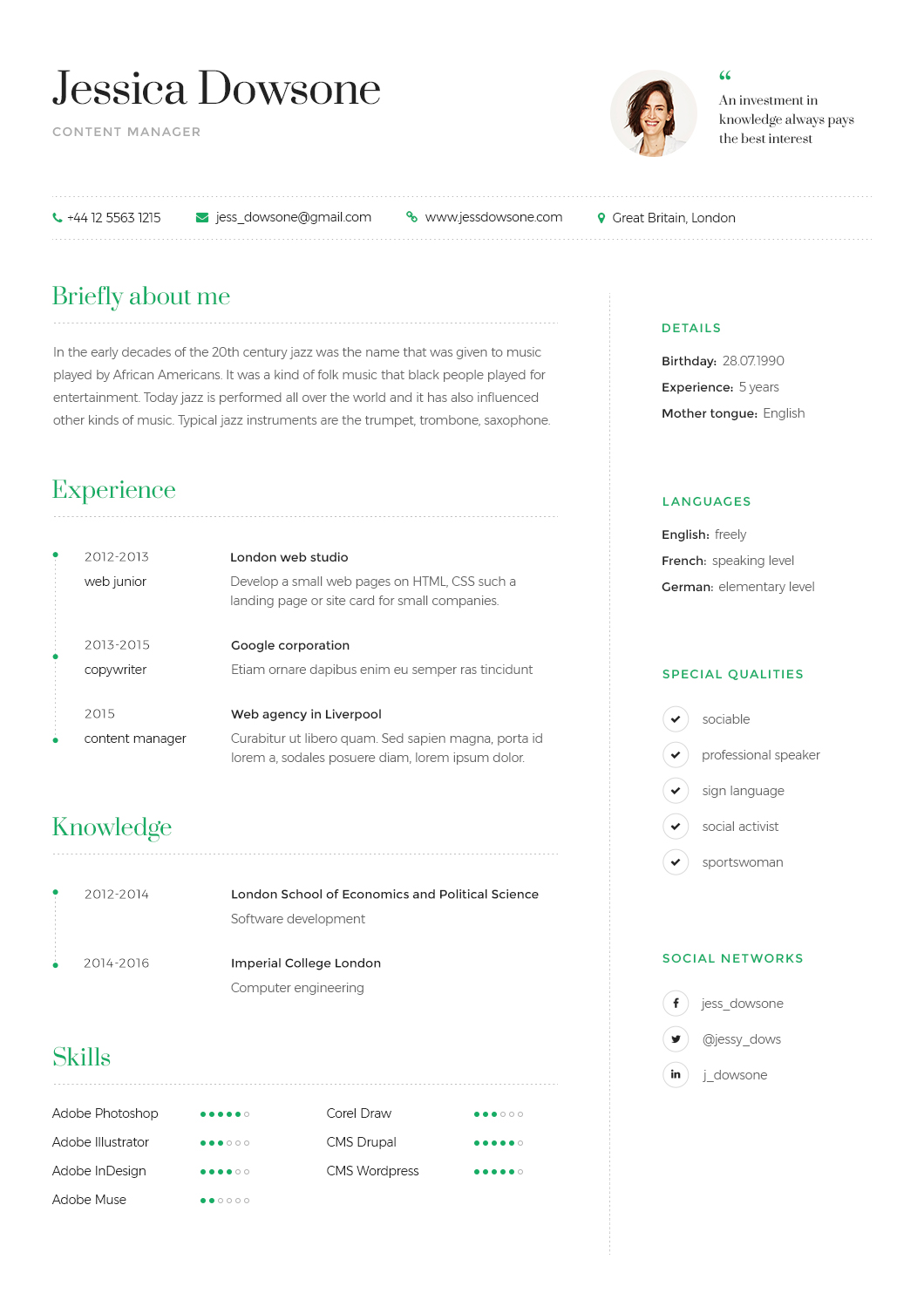 Lofty  Cv  Resume Template By Scientecraftdesign  Themeforest