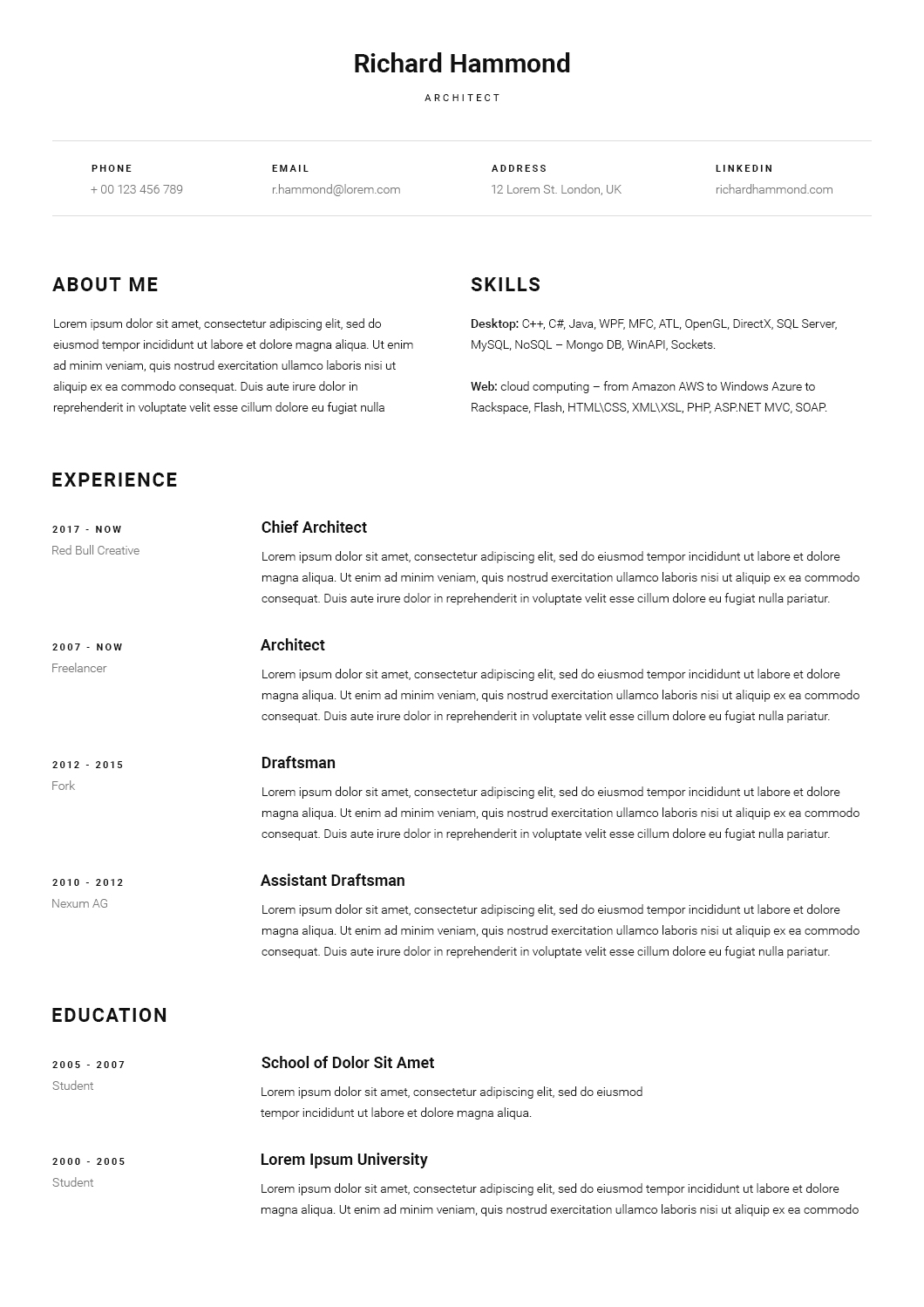 lofty cv resume template by scientecraftdesign themeforest