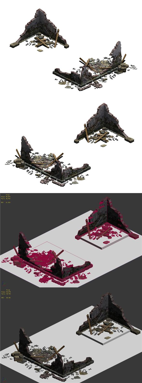 Building - ruins 004 - 3DOcean Item for Sale