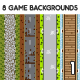 8 Top-Down Game Backgrounds - GraphicRiver Item for Sale