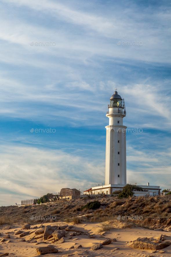 Lighthouse of Trafalgar, Cadiz - Stock Photo - Images
