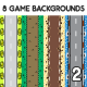 8 Top-Down Game Backgrounds Set 2 - GraphicRiver Item for Sale