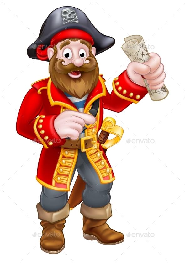 cartoon pirate captain by krisdog graphicriver rh graphicriver net pirate cartoon images free pirate treasure cartoon images