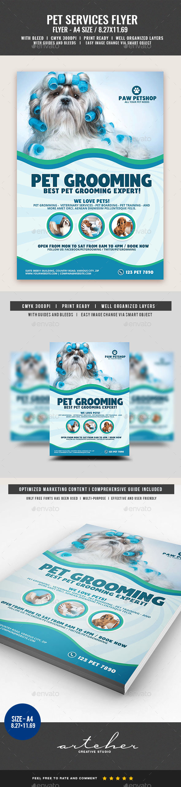 Pet Grooming Services - Commerce Flyers