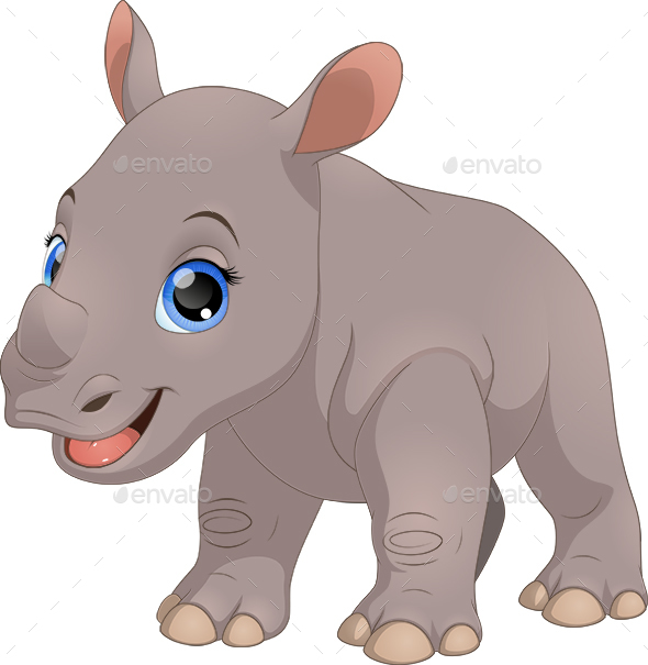 Little Rhino - Animals Characters