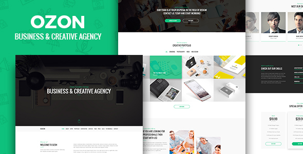 Ozon – Business and Creative Agency PSD Temaplate - Creative PSD Templates