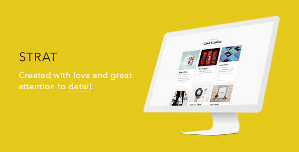 Strat — Creative One Page SEO & Marketing Agency HTML5/CSS3 Template