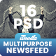 NewsFeed Multipurpose Banner Ads - 16 PSD [02 Size Each]