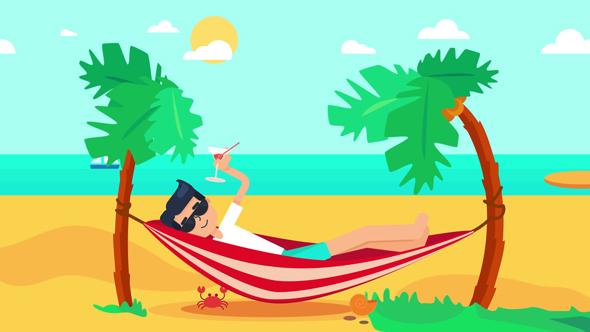 Tropical Island Cartoon: Vacation On Tropical Island By Barsrsindshop