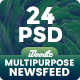 NewsFeed Multipurpose, Business, Startup Banners Ad