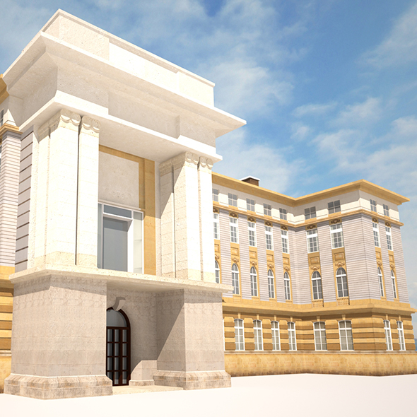 Neoclassical Building 164 - 3DOcean Item for Sale