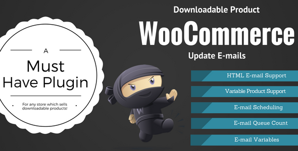 WooCommerce Downloadable Product Update E-mails - CodeCanyon Item for Sale