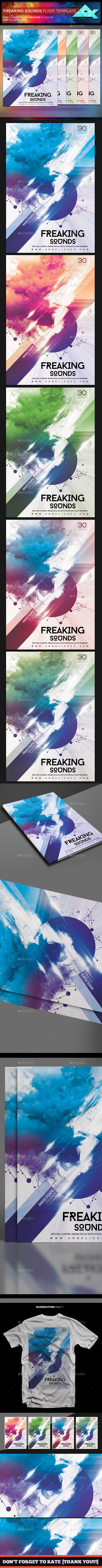 Freaking Sounds Flyer Template - Corporate Flyers