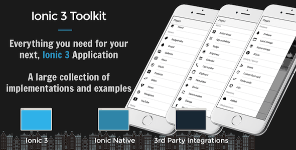 Ionic 3 Toolkit Personal Edition - The Swiss Army Knife of Ionic 3 - CodeCanyon Item for Sale
